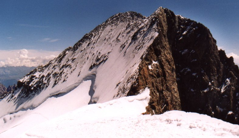Barre des Ecrins ( 4102 metres ) in the French Alps