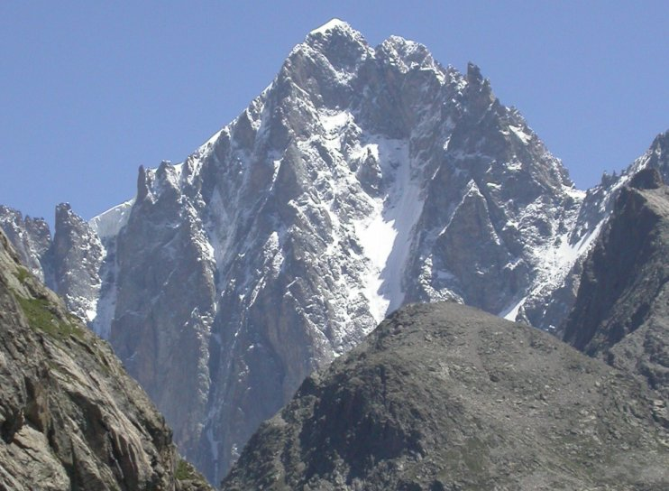 East Face of Barre des Ecrins ( 4102 metres ) in the French Alps