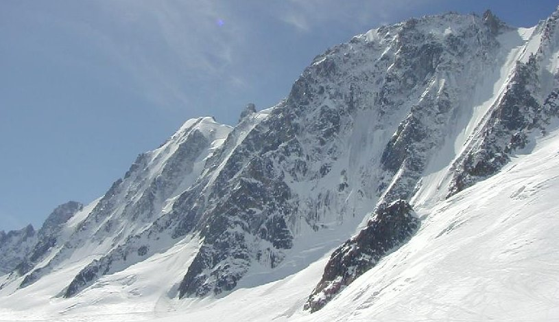 North Face of Les Droites ( 4000 metres ) in the Mont Blanc Massif