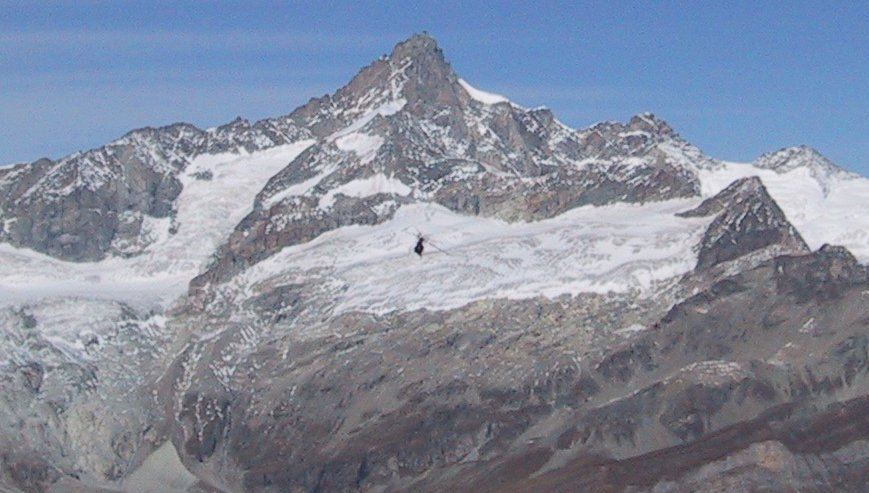 Zinalrothorn, 4221m in the Zermatt Region of the Swiss Alps