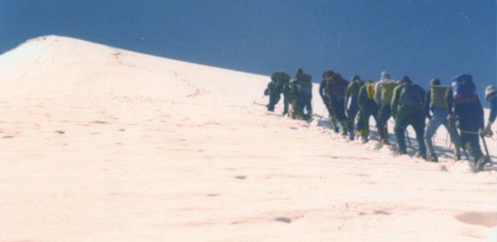 24th Glasgow ( Bearsden ) Scout Group Approaching summit of the Rinderhorn