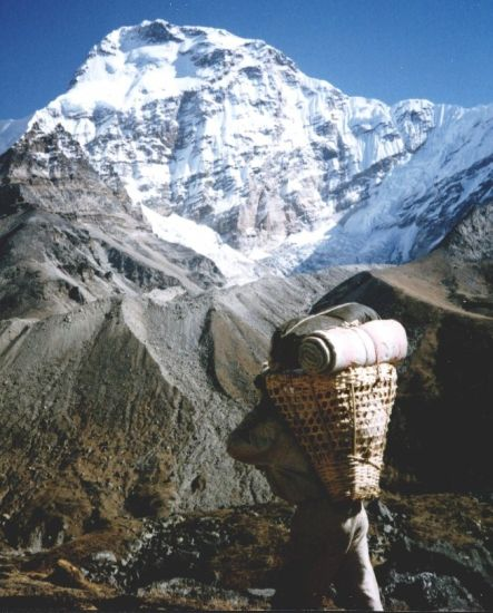 Chamlang on descent from Mera La into the Hongu Valley