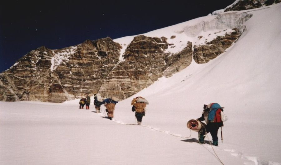 Ascent of Upper Balephi Glacier to Tilman's Pass in the Jugal Himal