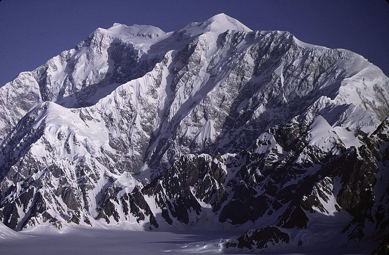 Mount Logan in the Yukon in Canada - the highest mountain in Canada and the second highest mountain in North America