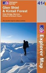 Glen Shiel and Kintail Forest - OS Explorer Map