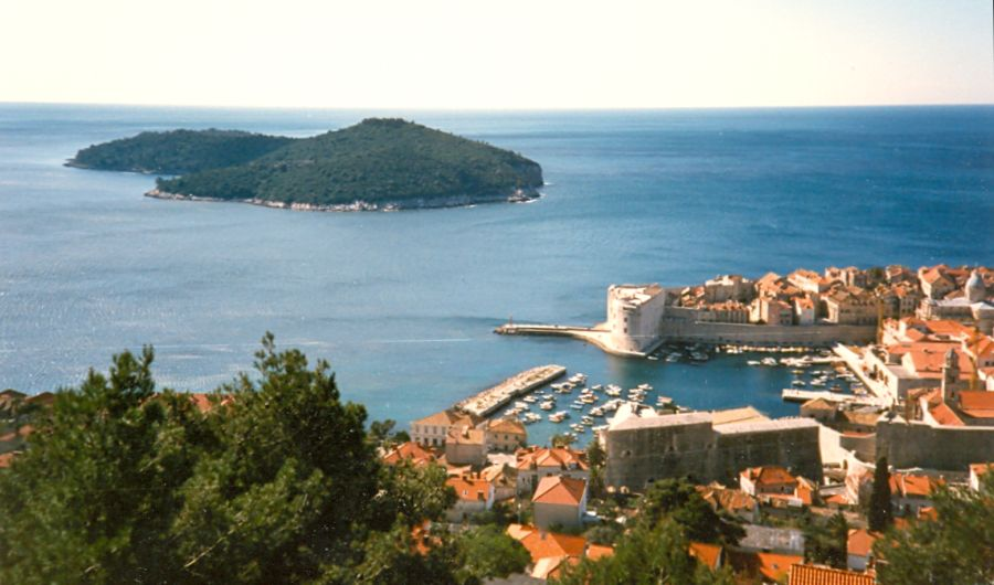 Dubrovnik on the Dalmatian Coast of Croatia