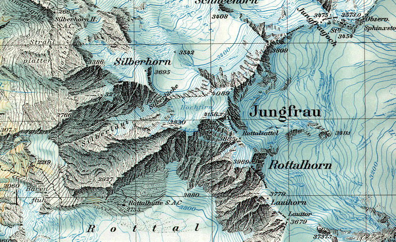 Photographs And Maps Of The Jungfrau In The Bernese