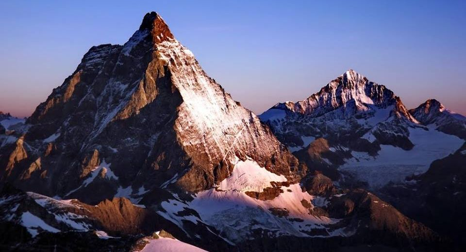 The Matterhorn, Il Cervino ( 4478 metres ) and Dent Blanche