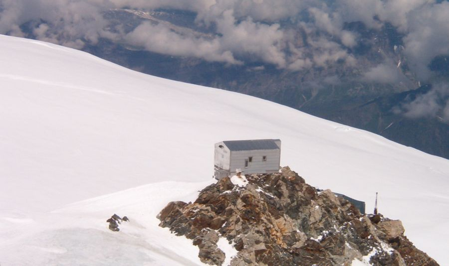 Refuge Vallot on the Normal Route of Ascent on Mont Blanc