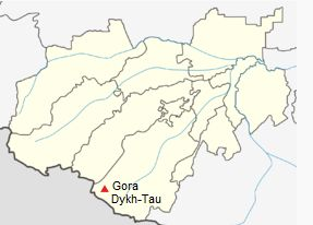 Location Map for Dykh Tau in Russia