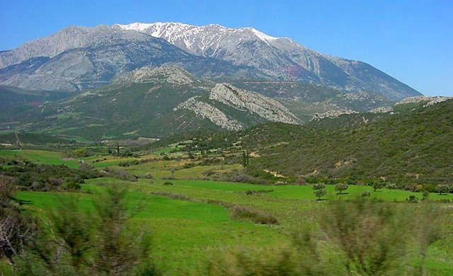 Mount Parnassus above Delhi in Mainland Greece