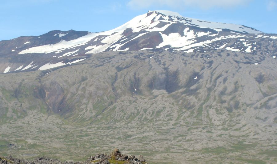 Snaefellsjokul ( 1446m, 4744ft ) in Iceland