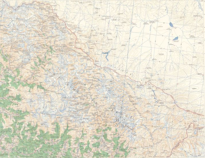 Map of Nanda Devi Region of the Indian Himalaya