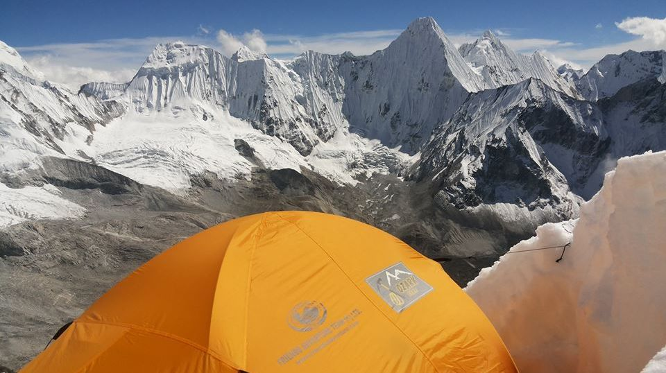 View from high camp on Ama Dablam