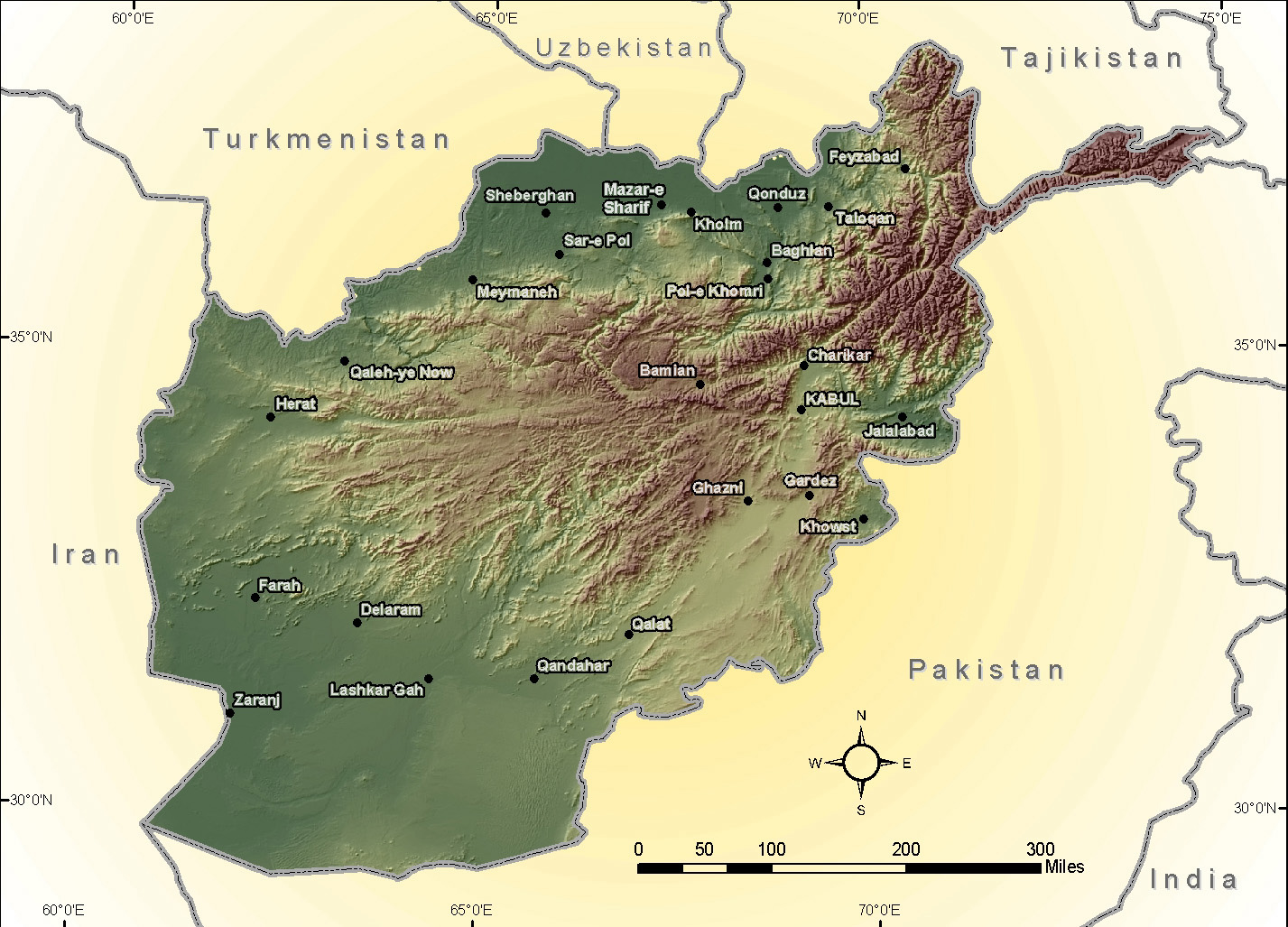 Photographs and Maps re Noshaq 7492m in the Hindu Kush Mountains of Afgha