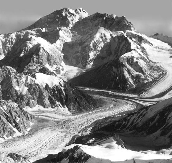Photographs and map of Tirich Mir ( 7708m ) in the Hindu ...