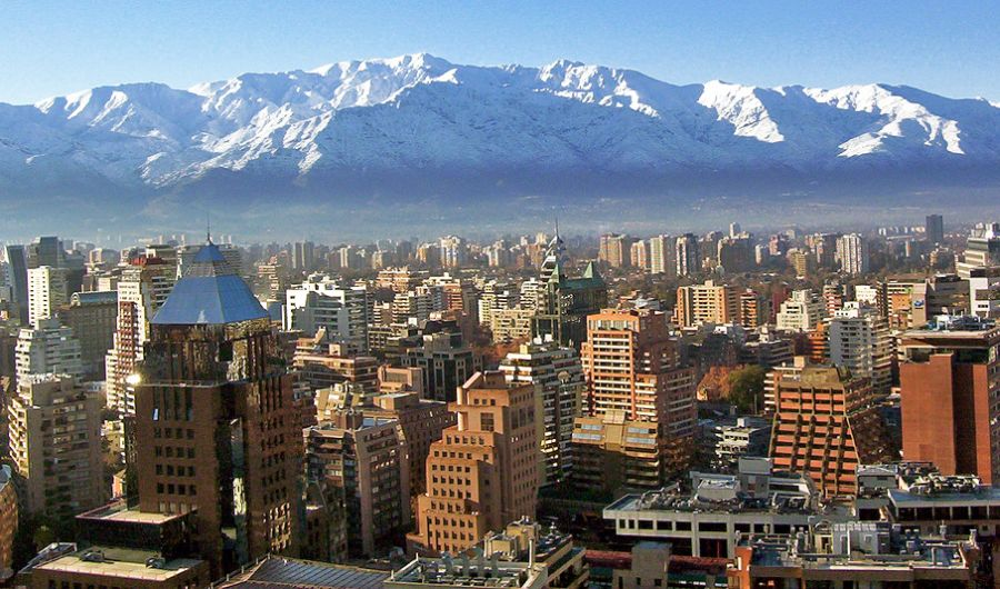 The Andes from Santiago in Chile