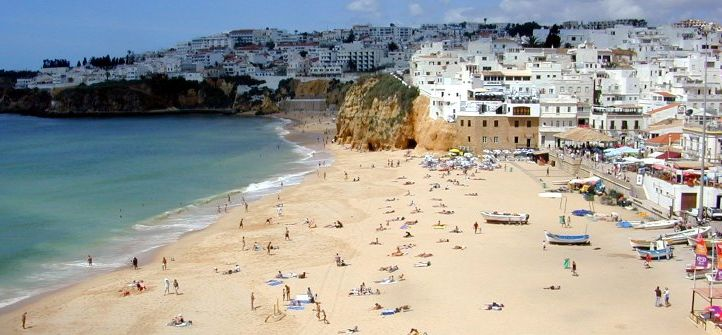 Fisherman's Beach at Albufeira in the Algarve