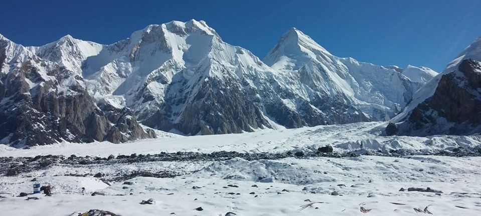 Khan Tengri above South Inylchek Glacier