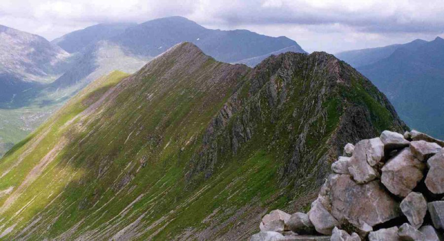An Gearanach from Stob Coire a' Chairn in the Mamores above Glen Nevis