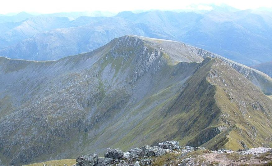 Ring of Steall in the Mamores above Glen Nevis