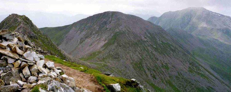 Stob Coire a' Chairn from An Gearanach in the Mamores above Glen Nevis