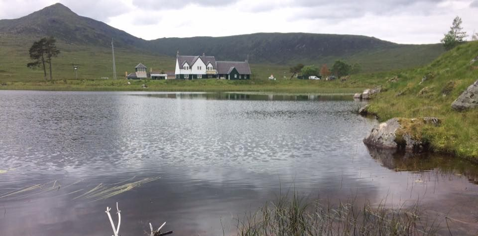 Youth Hostel on Loch Ossian in the Highlands of Scotland