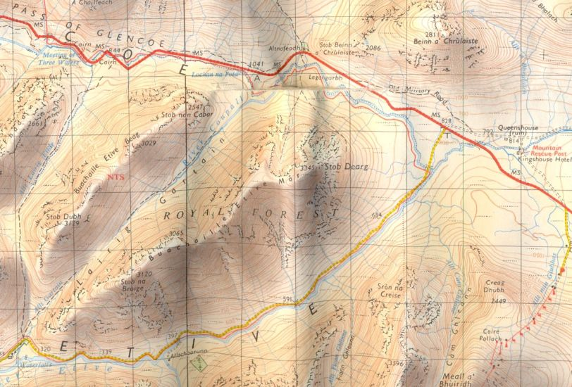 Map for Buachaille Etive Mor