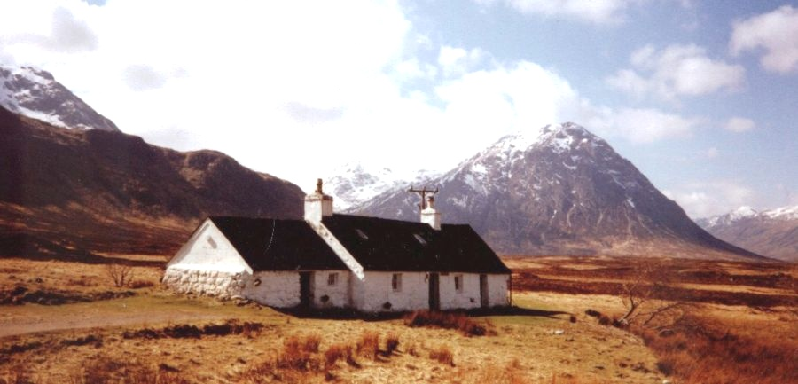 Black Rock Cottage and Buchaille Etive Mor in Glencoe