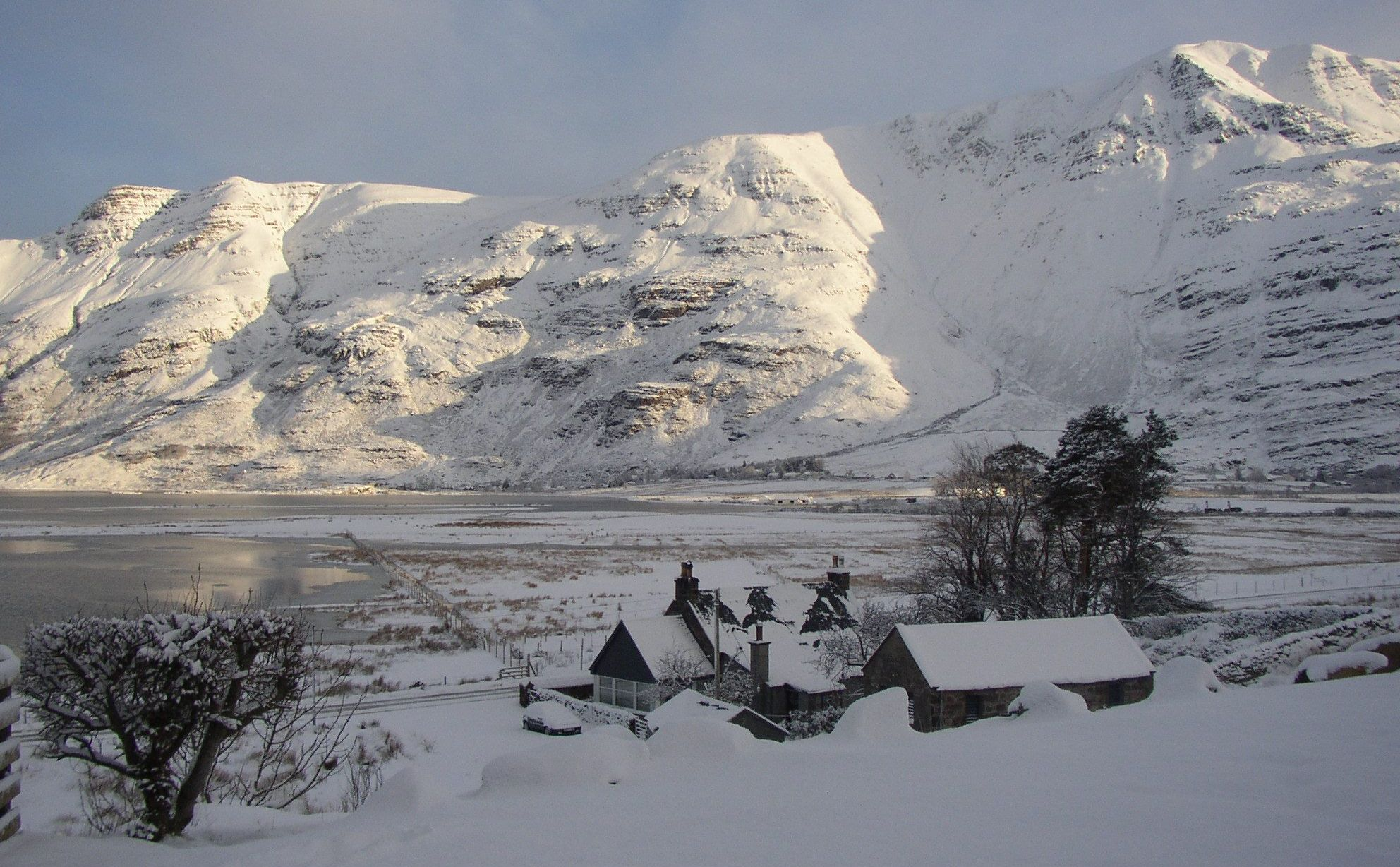 Winter on Liathach in the Torridon Region of the NW Highlands of Scotland