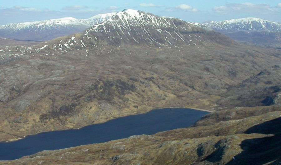 Canisp from Suilven in the NW Highlands of Scotland