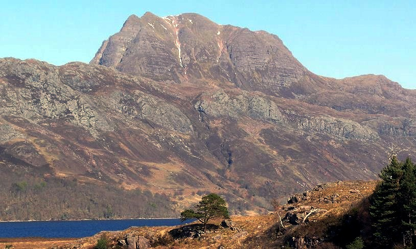 Slioch in the NW Highlands of Scotland