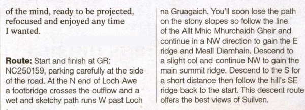 Route description forCanisp in the NW Highlands of Scotland