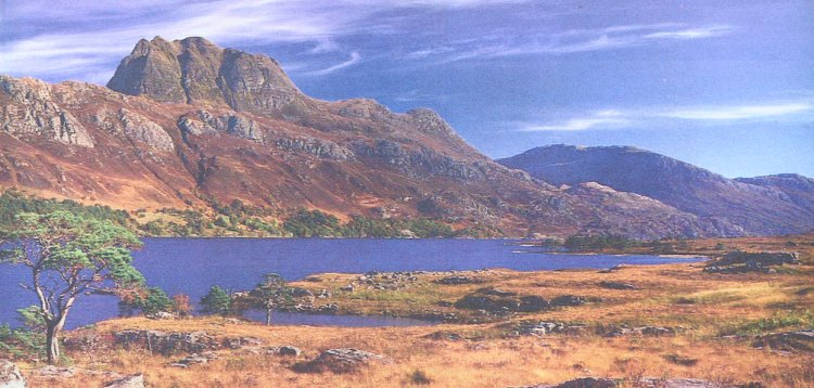 Slioch and Loch Maree in the NW Highlands of Scotland