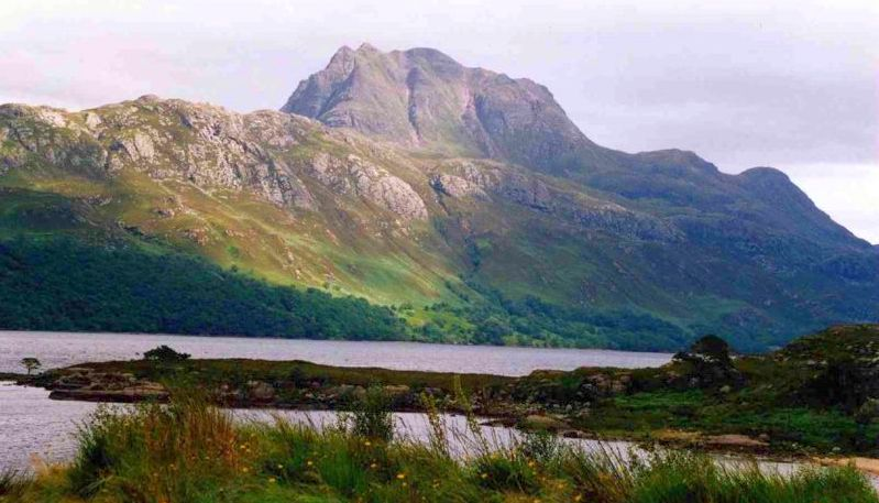Slioch from Loch Maree in the North West Highlands of Scotland