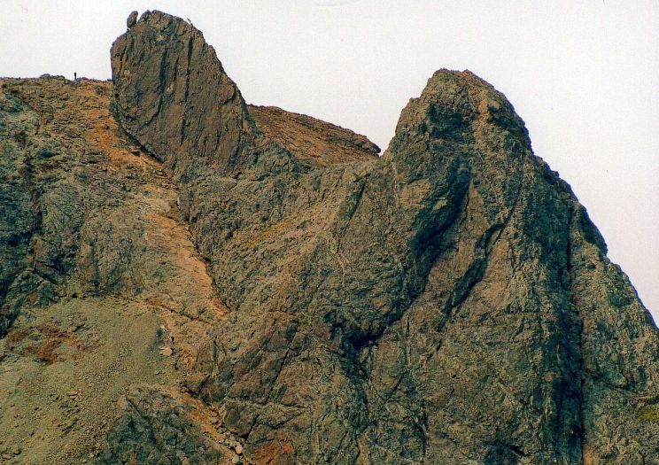 Approach to the East Ridge of the Inaccessible Pinnacle on the Skye Ridge