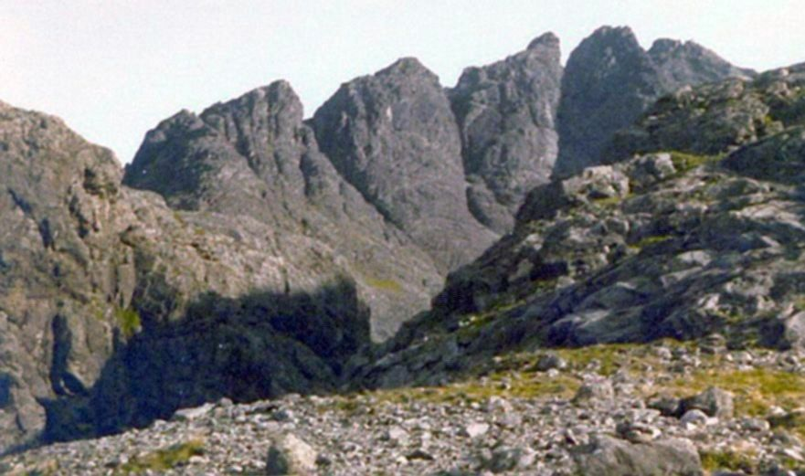 Pinnacle Ridge of Sgur nan Gillean on the Isle of Skye