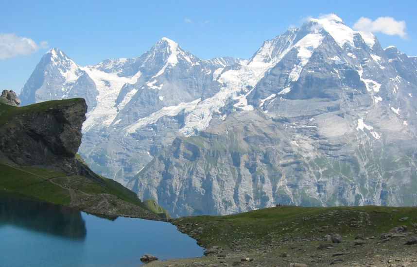 Eiger, Monch and Jungfrau in the Bernese Oberlands of Switrzerland