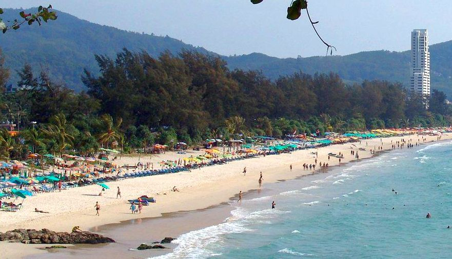 Beach at Ao Patong on Ko Phuket in Southern Thailand