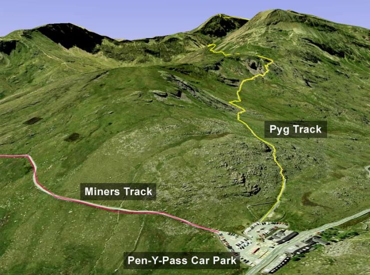 Photographs Map And Information For Climbing Snowdon Yr