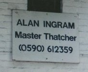 Alan Ingram, Master Thatcher