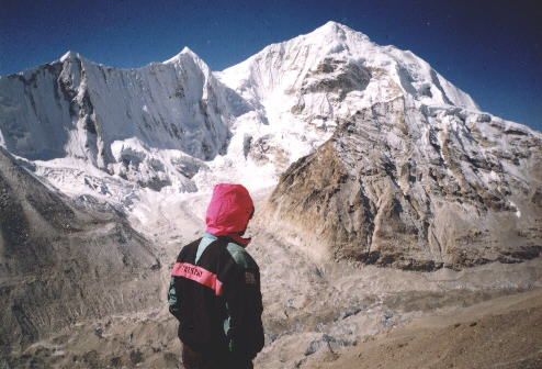 Mt. Baruntse from above Makalu Advanced Base Camp � C.A.Ingram: