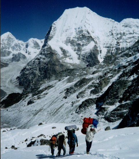 Mt. Chobutse on ascent to High Camp for Ramdung Go