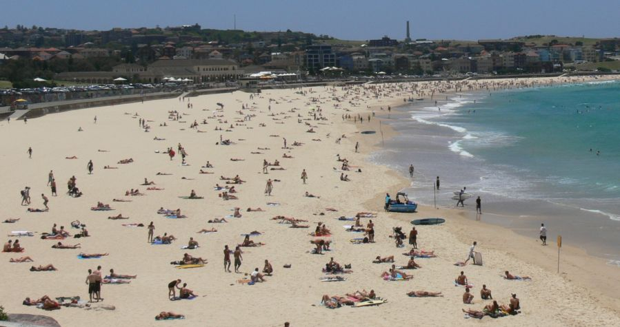 Bondi Beach in New South Wales, Australia