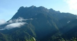 Mount Kinabalu ( 4101 metres ) in Sabah, East Malaysia - the highest mountain in SE Asia