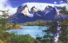 Torres del Paines i Patagonia, Chile, South America