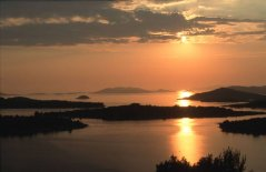 Sunset at Murter on Dalmatian Coast of Croatia