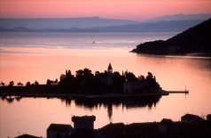 Sunset at Vis on Dalmatian Coast of Croatia