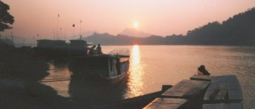 Sunset on the Mekong River at Luang Prabang