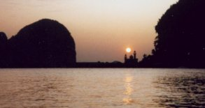 Sunset Cruise on Phang Nga Bay in Southern Thailand